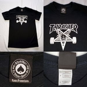 Thrasher Magazine 666 Skater Skateboard Deck Black